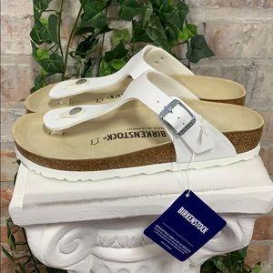 NIB Birkenstock Gizeh White Sandal Regular Fit